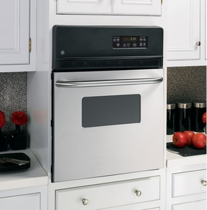 "JRS06SKSS GE 24"" Electric Single Standard Clean Wall Oven - Stainless Steel"