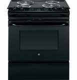 "JS250DFBB GE 30"" Electric Slide-in Range with Self Clean & 4.4 Cu. Ft. Oven - Black"