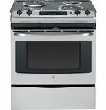 "JS250RFSS GE 30"" Electric Slide-in Range with Self Clean & 4.4 Cu. Ft. Oven - Stainless Steel"