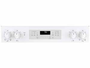 """JS760DLWW GE 30"""" Slide-In Front Control Electric Range with Dual-Element Bake and True European Convection - White"""