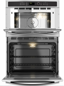 """JT3800SHSS GE 30"""" Built-In Combination Microwave/Thermal Wall Oven with Upper Sensor Controls - Stainless Steel"""