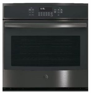 "JT5000BLTS GE 30"" Built-In Single Convection Wall Oven with True European Convection and Glass Touch Controls - Black Stainless Steel - CLEARANCE"