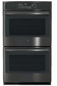 """JT5500BLTS GE 30"""" Built-In Double Convection Wall Oven - Black Stainless Steel"""