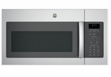"JVM6172SKSS 30"" GE 1.7 Cu. Ft. Over-the-Range Microwave Oven with 300 CFM and 2-Level Halogen Lights - Stainless Steel"