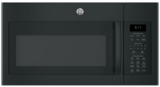 "JVM6175DKBB GE 30"" 1.7 cu. ft. Over-the-Range Microwave with 1,000 Watts, 300 CFM Ventilation and 10 Power Levels - Black"