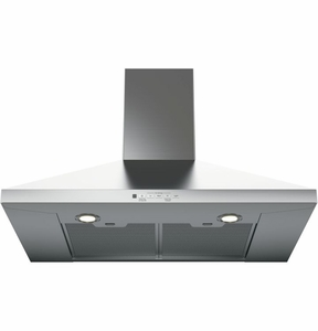 "JVW5301SJSS GE 30"" Wall Mount Pyramid Chimney Hood - Stainless Steel"