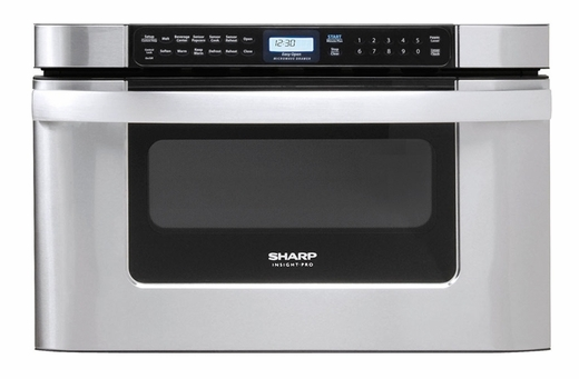 "KB-6524PS Sharp 24"" Easy Open Microwave Drawer - Stainless Steel"