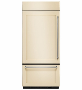 "KBBL206EPA KithenAid 20.9 Cu. Ft. 36"" Built-In Bottom-Mount Refrigerator (Left Hinge) - Custom Panel"