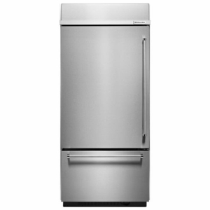 KBBL206ESS KitchenAid 20.9 Cu. Ft. Built-In Bottom-Mount Refrigeratore (Left Hinge) - Stainless Steel