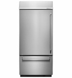 "KBBL306ESS KitchenAid 20.9 Cu. Ft. 36"" Width Built-in  Bottom-Mount Refrigerator (Left Hinge) - Stainless Steel"