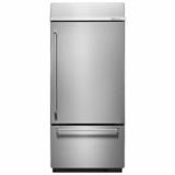 "KBBR206ESS KitchenAid 20.9 Cu. Ft. 36"" Built-in Bottom-Mount Refrigerator (Right Hinge) - Stainless Steel"