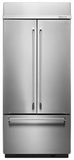 "KBFN406ESS KitchenAid 20.8 Cu. Ft. 36"" Built-In French Door Refrigerator - Stainless Steel"