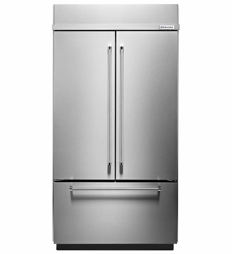 "KBFN502ESS  KitchenAid 24.2 Cu. Ft. 42""  Built-In French Door Refrigerator - Stainless Steel"