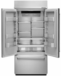 "KBFN506ESS KitchenAid 36""  Built In Stainless Steel French Door Refrigerator with Platinum Interior Design - Stainless Steel"