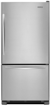 KBRS22KCMS KitchenAid 22 Cu. Ft. Standard-Depth Bottom-Freezer Refrigerator, Architect Series II - Right Hinge - Stainless Steel