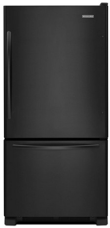 KBWS19KCBL KitchenAid 19 Cu. Ft. Standard-Depth Bottom-Freezer Refrigerator, Architect Series II - Black