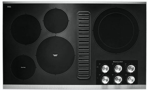 "KCED606GSS KitchenAid 36"" Electric Downdraft Cooktop with 300 CFM and 3-Speed Fan Control - Stainless Steel"