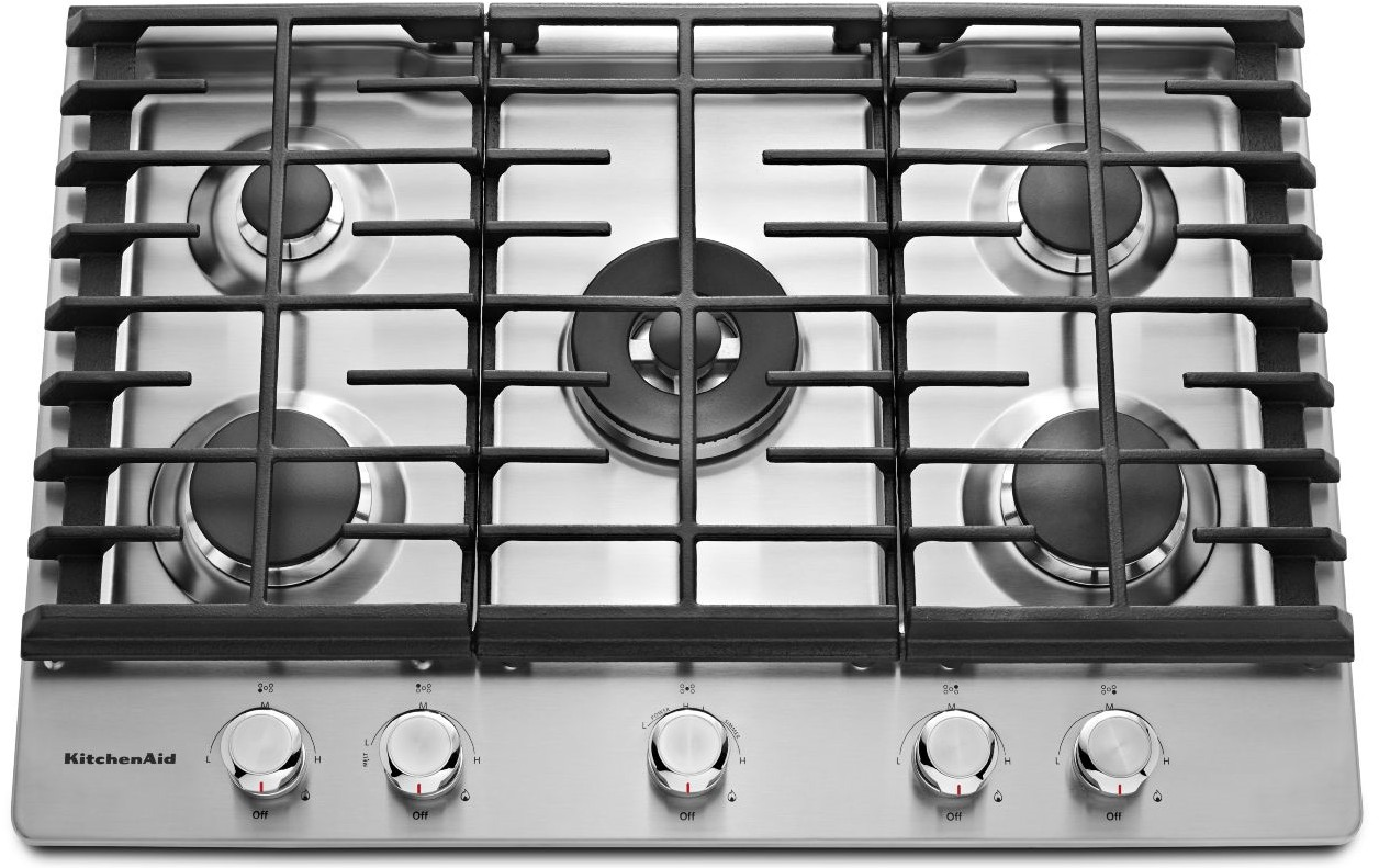 Genial KCGS556ESS KitchenAid 36u0027u0027 5 Burner Gas Cooktop With Even Heat Simmer Burner    Stainless Steel