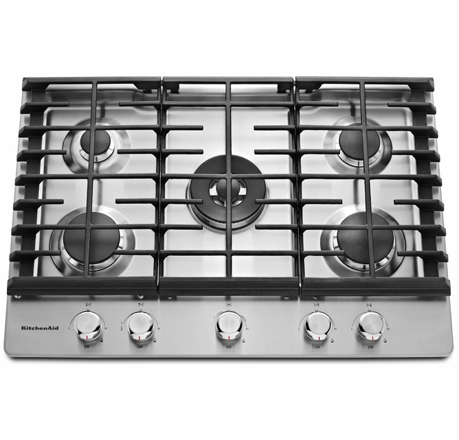 KCGS556ESS KitchenAid 36'' 5-Burner Gas Cooktop With Even