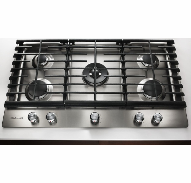 Kcgs556ess Kitchenaid 36 5 Burner Gas Cooktop With Even