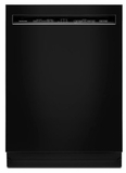 "KDFE104HBL KitchenAid  24"" 46 DBA Front Control Built-In Undercounter Dishwasher with PowerWash Cycle and SatinGlide Max Railes - Black"