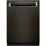 "KDPE234GBS KitchenAid 24"" Built-In Dishwasher with Third Level Rack and Heat Dry Option - Black Stainless Steel"