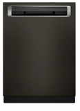 "KDPM354GBS KitchenAid  24"" 44 DBA Front Control Dishwasher with PowerWash Cycle and SatinGlide Max Railes - PrintShield Black Stainless Steel"