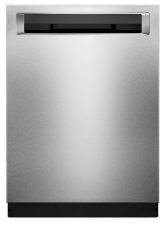 "KDPM354GPS KitchenAid  24"" 44 DBA Front Control Dishwasher with PowerWash Cycle and SatinGlide Max Railes - PrintShield Stainless Steel"