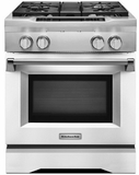 "KDRS407VMW KitchenAid  30"" Commercial Dual Fuel Range with EasyConvect Conversion System and Even-Heat True Convection - Imperial White"