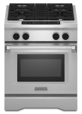 """KDRS407VSS KitchenAid  30"""" Commercial Dual Fuel Range with EasyConvect Conversion System and Even-Heat True Convection - Stainless Steel"""