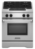 "KDRS407VSS KitchenAid  30"" Commercial Dual Fuel Range with EasyConvect Conversion System and Even-Heat True Convection - Stainless Steel"