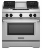 "KDRS463VSS KitchenAid  36"" Commercial Dual Fuel Range - Stainless Steel"