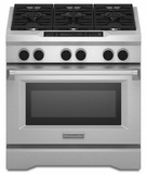"KDRS467VSS KitchenAid  36"" Commercial Dual Fuel Range - Stainless Steel"
