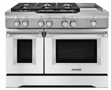 "KDRS483VMW KitchenAid  48"" Commercial Dual Fuel Range with Even Heat True Convection System and CleanBake Hidden Element  - Imperial White"