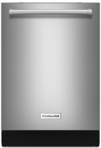 "KDTE204GPS KitchenAid 24"" Built-In Dishwasher with SaniRinse Option and ProWash Cycle - PrintShield Stainless Steel"