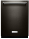 "KDTE234GBS KitchenAid 24"" Built-In Tall Tub Dishwasher with Third Level Rack and ProWash Cycle - Black Stainless Steel"