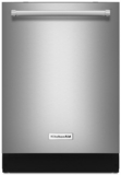 "KDTE234GPS KitchenAid 24"" Built-In Tall Tub Dishwasher with Third Level Rack and ProWash Cycle - Stainless Steel"