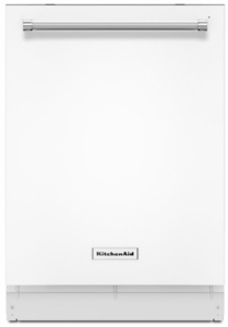 "KDTE234GWH KitchenAid 24"" Built-In Dishwasher with Third Level Rack and Heat Dry Option - White"