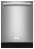 "KDTE304GPS KitchenAid 24"" Built-In Dishwasher with PrintShield and Heat Dry Option - Stainless Steel"