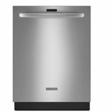 "KDTE554CSS KitchenAid 24"" Series 2 6-Cycle/5-Option Built-In Dishwasher with ProWash and Heat Dry Option - Stainless Steel"