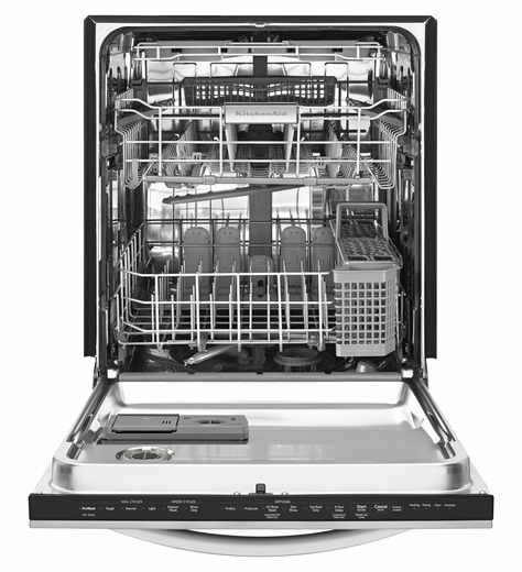 KDTE704DWH KitchenAid Architect 24'' 6-Cycle/7-Option Dishwasher with Concealed Controls - White