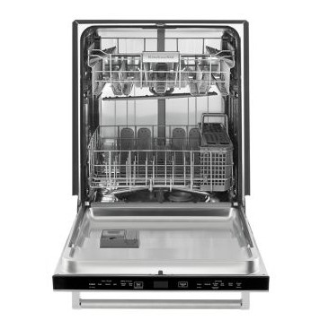 "KDTM354ESS 24"" KitchenAid 44 dBa Dishwasher with Clean Water Wash System and Top Controls - Stainless Steel"