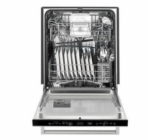 """KDTM354ESS 24"""" KitchenAid 44 dBa Dishwasher with Clean Water Wash System and Top Controls - Stainless Steel"""