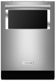 "KDTM384ESS KitchenAid 44 dBA 24"" Dishwasher with Window and Lighted Interior - Stainless Steel"
