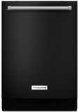 "KDTM404EBL KitchenAid 44 dBA 24"" Dishwasher with Dynamic Wash Arms & Clean Water System - Black"