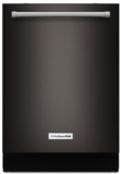 "KDTM404EBS KitchenAid 24"" Top Control Dishwasher with ProScrub - Black Stainless Steel"