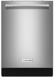 "KDTM404ESS KitchenAid 44 dBA 24"" Dishwasher with Dynamic Wash Arms & Clean Water System - Stainless Steel"