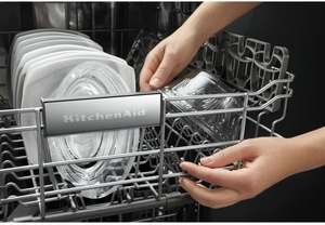 "KDTM404EWH KitchenAid 44 dBA 24"" Dishwasher with Dynamic Wash Arms & Clean Water System - White"