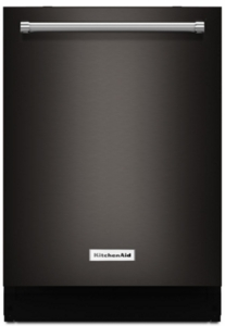"KDTM704EBS KitchenAid 24"" 44 dBA Dishwasher with Dynamic Wash Arms - Black Stainless Steel"