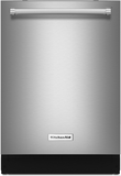 "KDTM704ESS KitchenAid 44 dBA 24"" Dishwasher with Dynamic Wash Arms & Clean Water System - Stainless Steel"